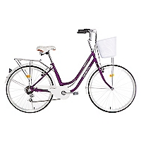 Bicicleta Amsterdam Aro 26 Morada-Blanca