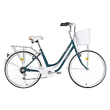 Bicicleta Amsterdam Aro 26 Turquesa-Blanca