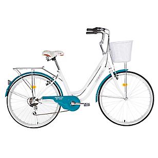 Bicicleta Amsterdam Aro 26 Blanco-Turquesa