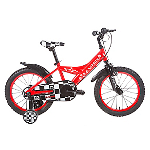 Bicicleta Cool Kids aro 16 Negro/Rojo