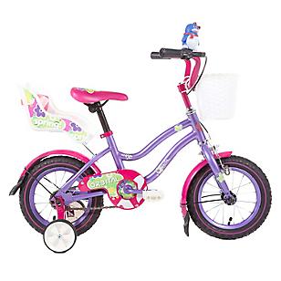 Bicicleta Spring Kids aro 12 Morado/Fucsia