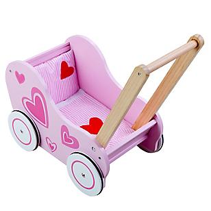 Caminador de madera Rosado