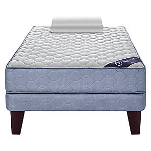 Cama Europea Essence 3 1,5 Plazas Base Normal + Textil