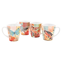 Set 4 Mugs Birds