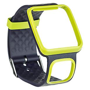 Correa Reloj Delgada Negra-Amarillo
