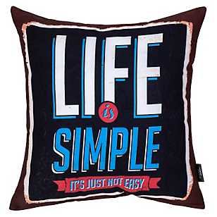 Cojin Life Is Simple