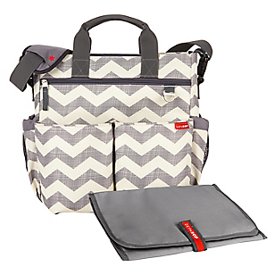 Bolso Duo Signature Chevron Beige