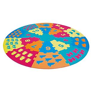 Alfombra Puzzle Circular Goma