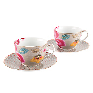 Set 2 Tazas Cappuccino Bloom