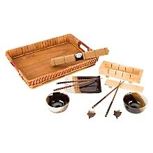 Set de Sushi de Cerámica y Bambú