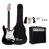 Set Guitarra El�ctrica Negra + Amplificador 15 watts
