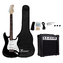 Set Guitarra Eléctrica Negra + Amplificador 15 watts