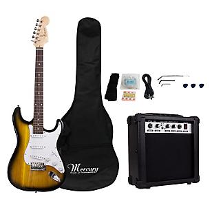 Set Guitarra Eléctrica Sunburst + Amplificador 15 watts