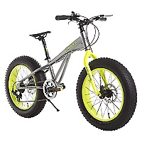 Bicicleta Fat Bike Aro 20 Gris-Verde