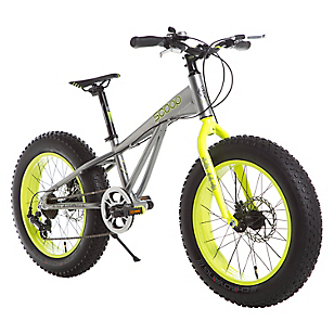 Bicicleta Fat Bike Aro 20 Gris-Verde