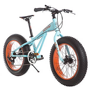 Bicicleta Fat Bike Aro 20 Azul-Naranja