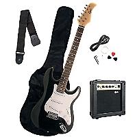 Pack Guitarra El�ctrica Negra + Amplificador 10 Watts