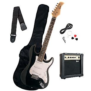 Pack Guitarra Eléctrica Negra + Amplificador 10 Watts