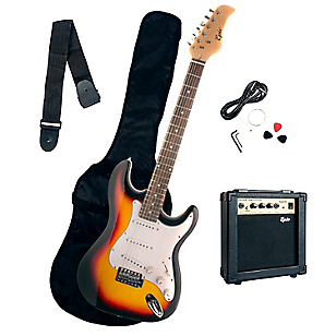 Pack Guitarra Eléctrica Café Sunburst + Amplificador 10 Watts