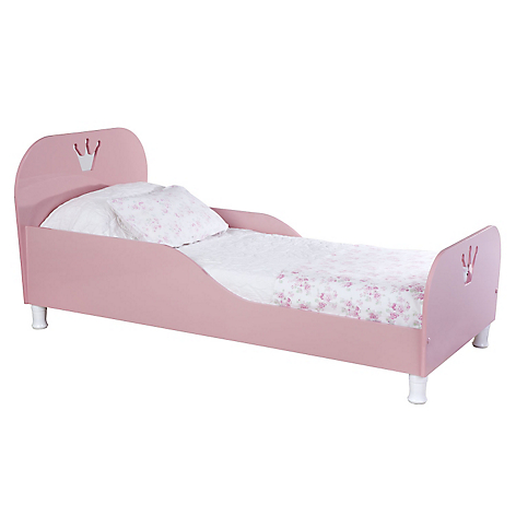 Cuna cama rosada kidscool for Cama transicion
