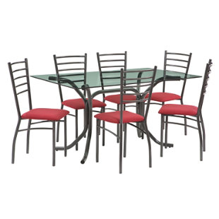 Juego comedor rectangular 6 sillas budapest mica for Comedor 8 sillas falabella