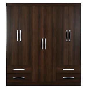 Closet 6 Puertas y 4 Cajones Domani