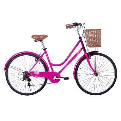 Bicicleta Aro 26 City Basic Fucsia