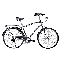 Bicicleta Aro 26 City Conmuter Nickel Gris
