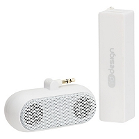 Kit Cargador Batería Power Bank 2600 + Parlante Blanco