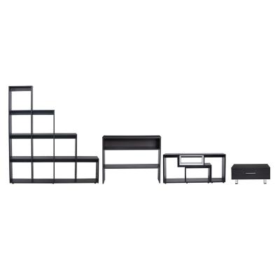 Combo Rack Extensible + Estante Escalera + Arrimo + Mesa de Centro