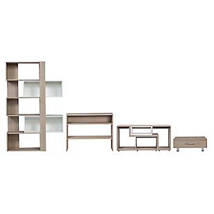 Combo Rack Extensible + Estante Cubo + Arrimo + Mesa de Centro