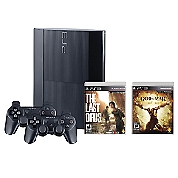 Consola PS3 500GB+The Last Of Us+God of War: Ascensi�n + 2 Controles
