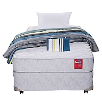 Cama Americana Beat 1,5 Plazas Base Normal + Textil
