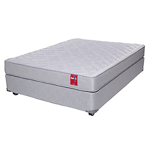 Cama Americana Beat 2 Plazas Base Normal + Textil