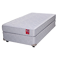 Cama Americana Beat 1 Plaza Base Normal + Textil