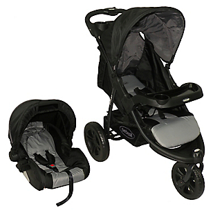 Coche Travel P52 Negro Gris