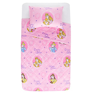Quilt Disney Princesas Flowers 1,5 Plazas