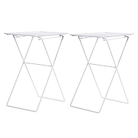 Mesa Metal Plegable Blanca