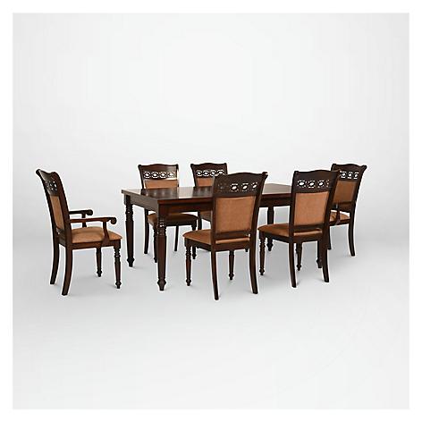 Cic juego comedor le blanc 4 sillas 2 sitiales for Comedor 4 sillas falabella