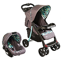 Coche Travel System Gris Verde H005GV