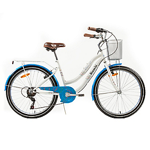 Bicicleta Aro 24 Street Lady Blanco-Azul