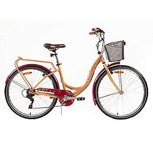 Bicicleta Aro 26 City Lady Canela-Burdeo