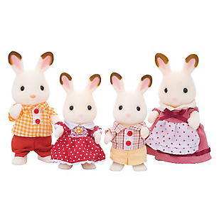 Juguete Chocolate Rabbit Family