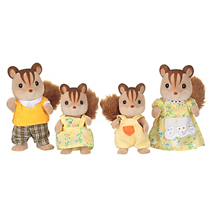 Juguete Walnut Squirrel Family