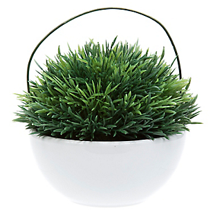 Pote con Pasto Core Plantas