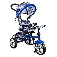 Triciclo Metal Asiento Giratorio Azul 4055