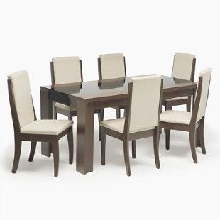 Juego comedor 6 sillas lorenzi basement home for Precios de comedores en vidrio