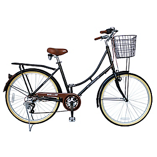 Bicicleta Aro 26 City Serie 067 Negra