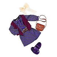 Purple Dress and Handbag Outfit
