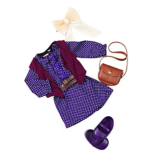 Accesorios Muñeca Purple Dress And Handbag Outfit